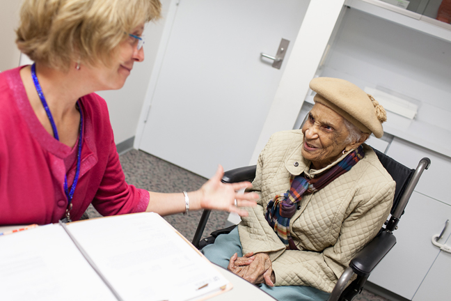 Ms. Doris Mary Gomez, a patient of audiologist Dr. Debra Shimon, passed away last year at the age of 105.