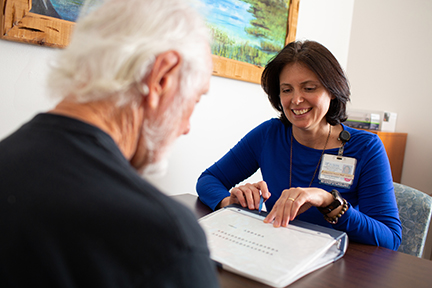 psychologist with patient