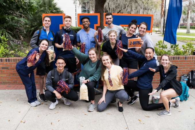 group of students at giving day
